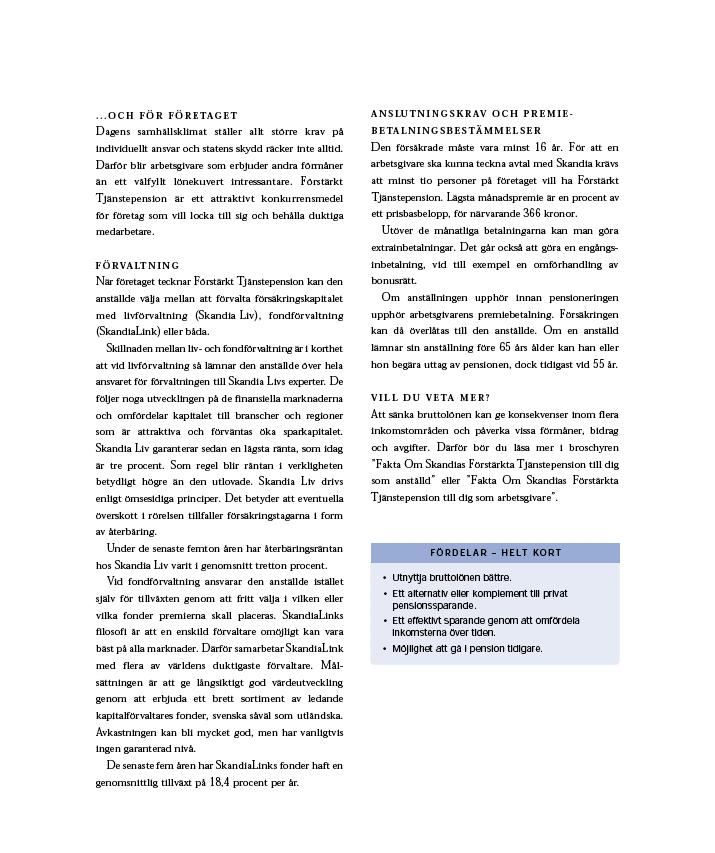 FaktaOm Förstärkt tjänstepension sid 3 av 4